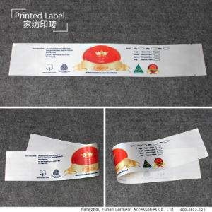 Etiket van het Satijn van de Matras van de Zorg van het Af:drukken van de Douane van de Fabriek van China het Textiel