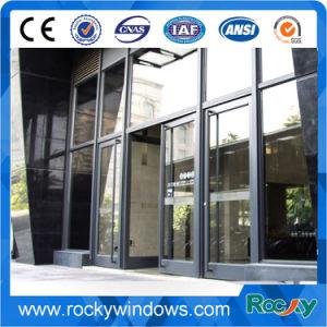 Finestra di alluminio di colore grigio scuro roccioso per costruzione commerciale