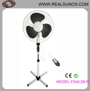 Standplatz Fan mit Remote Control Fs402-Br Black Color