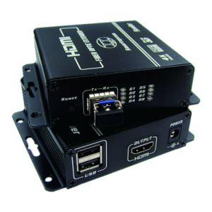 поддержка полное HD видео- Макс разбивателя оптического волокна 4k HDMI Kvm до 300m (KHX-2240HD)