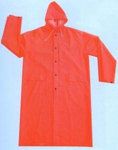 PVC/Polyesterの長いレインコートR9029