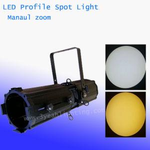 Perfil de 200W luz LED de estúdio no local com zoom manual