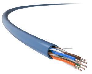 UTP Cat5e PVC no interior do cabo de rede (24AWG, 0.505mm)
