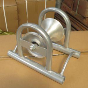 Rodillo de cable de aluminio con base de acero galvanizado
