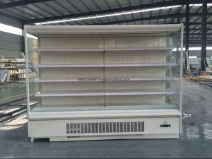 Congelatore dritto della vetrina della visualizzazione per le verdure e le frutta del supermercato