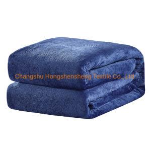 Textil hogar sólido de lujo de alta calidad suave manto de franela franela visón manta polar para el invierno