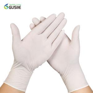 Guantes desechables para examen de látex, guantes médicos con CE EN374 y EN455, FDA