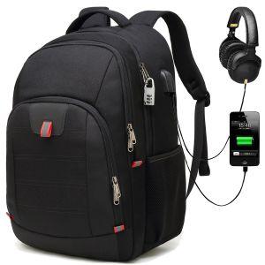 Wholesale Puerto USB macho Bagpack Mochila para portátil mochila de la magia de los viajes de negocios Bolsa de carga USB intercambiable Mochilas para hombres