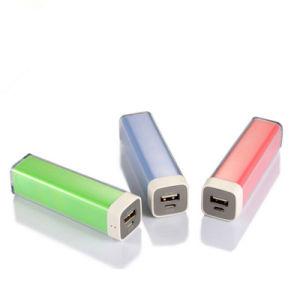 Forma de barra de labios Banco de potencia de 2200mAh Batería de móvil para teléfonos inteligentes