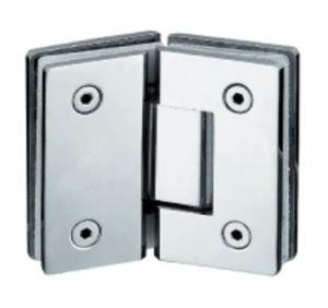 Chuveiro de aço inoxidável da dobradiça da porta de vidro