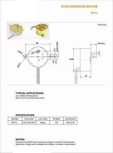 Baja velocidad Synchronous Motor de engranajes para barbacoa microondas