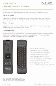 Minix Media-Nabe Neo-U9-H androider Eibisch 6.0.1 des Fernsehapparat-Kasten-64-bit Prozessor-A53