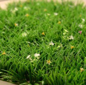 Venda a quente decoração de jardim de relva sintética Artificial
