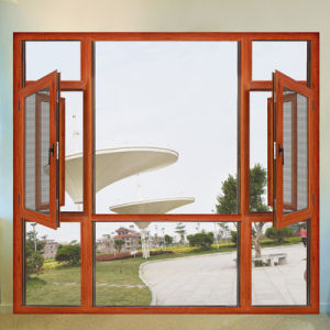 緩和されたガラス/アルミニウム覆われた開き窓Windowsが付いている内部の振動入り口の開き窓のWindows
