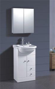 PVC-weißer gemalter Badezimmer-Schrank (B-1317)