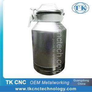 Metal Alumínio Balde de vedação do tanque de leite pela fiação CNC para explorações leiteiras