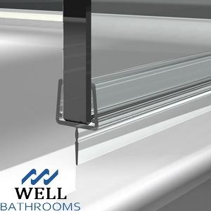 Dusche-Profildichtung-Streifen, lichtdurchlässiges PVC verdrängte