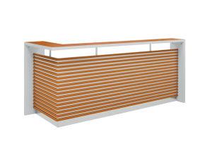 Mobilier de bureau comptoir de réception avec décoration strié