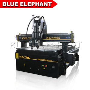 China Sistema neumático de husillos múltiples Router CNC 1325 máquina de grabado de madera