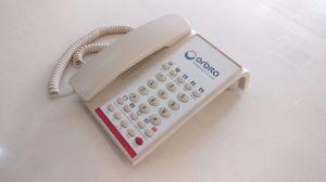 De geribde Telefoon van het Bureau van de Telefoon van het Hotel van het Huis van de Telefoon van identiteitskaart van de Bezoeker van de Desktop