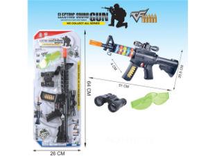 Giocattolo della mitragliatrice di missione militare con lampeggiante del LED ed effetti sani H1881139