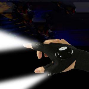 La notte mezza della barretta dei guanti di pesca del LED illumina in su i guanti