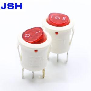 Kcd1-201A/2 pinos/3Pinos/6pinos redondo preto do interruptor oscilante, sobre-on/off-on/off