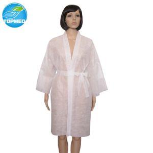Nonwoven SMSの着物、使い捨て可能な美の鉱泉の着物
