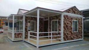 저가 조립식으로 만들어지는 조립식 이동할 수 있는 콘테이너 집 또는 별장
