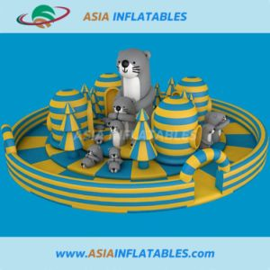 Parque de Atracciones inflables Tarpaulingiant de PVC, tiburón Tema para niños