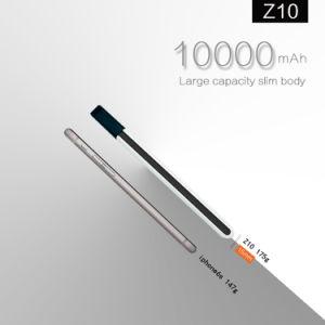 Mezone Z10 BANCO DE POTENCIA Marca de gran capacidad de cuerpo delgado con pantalla digital insertados/carga rápida 3.0 /la doble salida USB 10000mAh