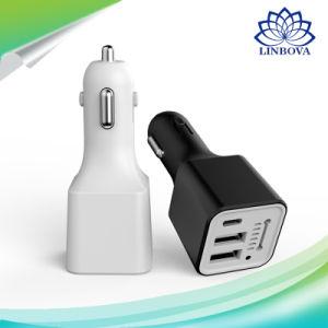 加湿器および空気清浄器を持つ3 USB車の充電器