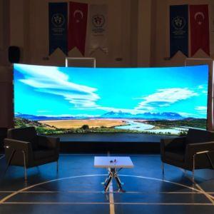 HD P6mm courbe intérieure pour la publicité de l'écran à affichage LED