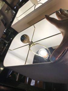 Malha de Aço Inoxidável brancos interior Sombra Iluminação de mesa (KA827827)