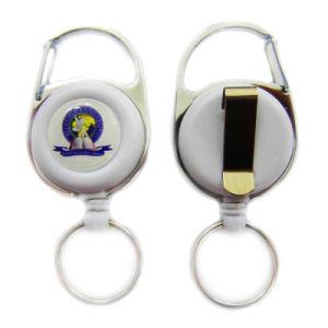 Kundenspezifische Metallfertigkeit dekorative Identifikation-Kartenhalter-Abzeichen-Bandspule (001)