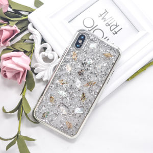 Enquadramento de pára-choques Electroplated jóias cintilantes, Tampa Traseira do protetor de Telefone
