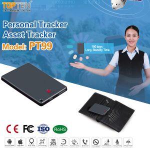 De lange Reserve Persoonlijke Drijver van Activa GPS/GSM met Sos het Praatje van de Stem van het Alarm (pt99-JU)