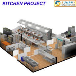 Comercial de gas y eléctrico de acero inoxidable equipos de cocina para proyecto de restaurantes y hoteles