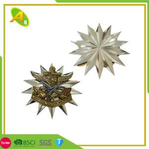 項目安いカスタム金属のクラフトの紋章のイギリスのスイス連邦共和国の卸し売り昇進金の昇進の記念品のギフト(001)として堅く柔らかいエナメルのバッジの折りえりPin