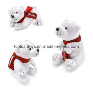 11cm Coca Cola Ours polaire blanc des jouets en peluche avec 3 couleurs motif imprimé écharpe polaire
