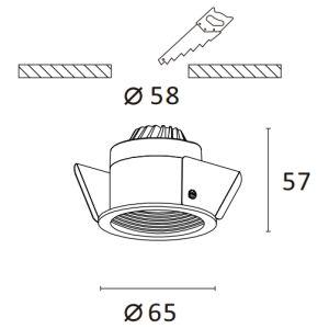 6W PANNOCCHIA professionale LED con il riflettore di alta efficienza di ottico e uno strato diffuso messo giù indicatore luminoso