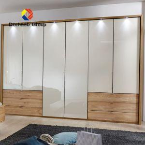 hecho personalizado cristal y madera Vestidor Armario archivador