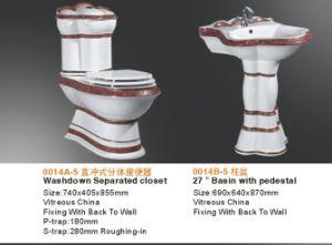 Комплект ванной комнаты 3PCS роскошных санитарных изделий золотистый украшенный