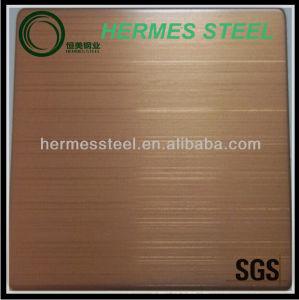 低価格のシート赤い青銅色のHlのステンレス鋼
