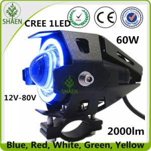 U7condujo la motocicleta de haz doble faro LED 60W el faro de motocicletas