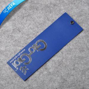 Custom Hot argent et le logo en relief Tag/étiquette de papier