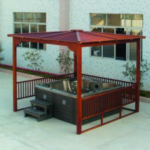 عمليّة بيع حارّ مسيكة خارجيّة [هوت تثب] خشبيّة منتجع مياه استشفائيّة [غزبو] ([سر883])