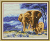 Exportador da arte DIY Diamond executando Pintura Elefante
