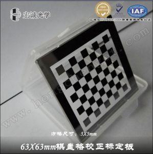 Griglia di calibratura di visione artificiale, scacchiera diretta della fabbrica di vetro standard di precisione degli obiettivi