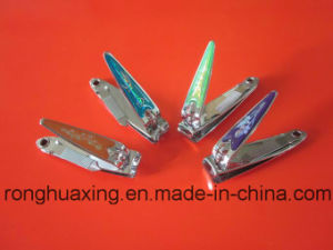 N-602bc Ce Complicant Carbon Steel Nail Cutter met Nagelvijl en Rubber Surface
